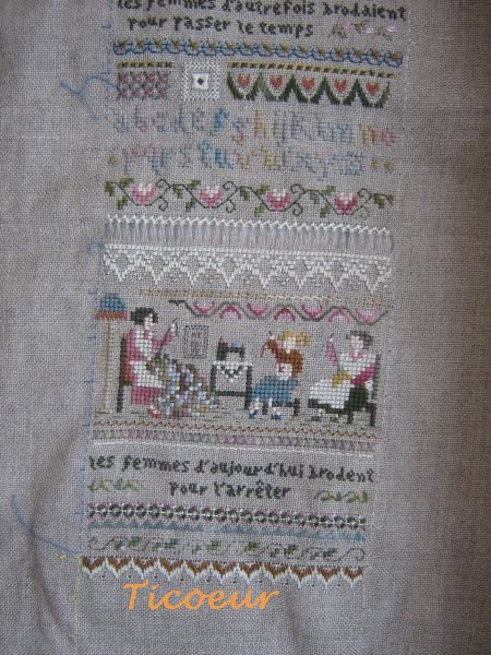croix-hardanger-victoria Sampler -heirloom stitching