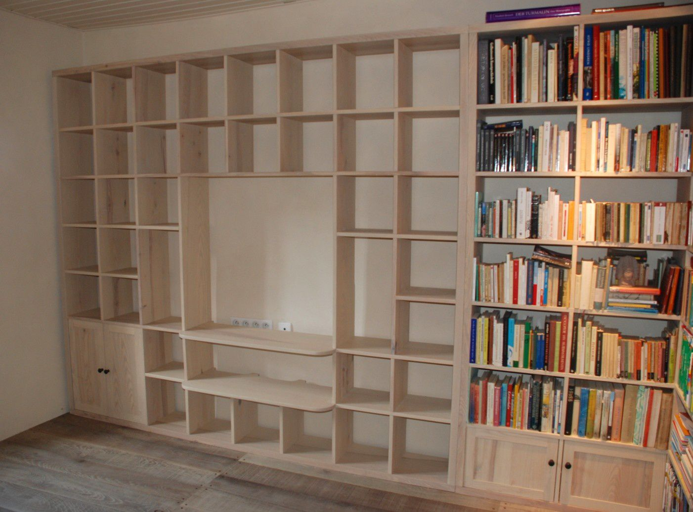 Biblioth que contemporaine tv hifi la suite atelier - Model de bibliotheque en bois ...