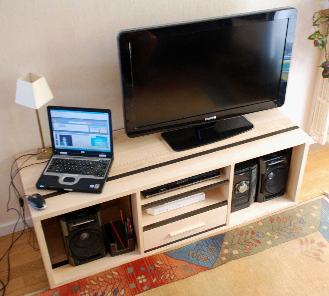 Album meuble tv hifi contemporain atelier pourquoi pas - Meuble tv multimedia ...