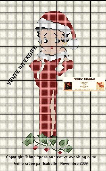 Grille gratuite point de croix betty boop m re no l - Blog point de croix grilles gratuites ...