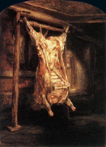 Rembrandt, boeuf écorché, Louvre (2)