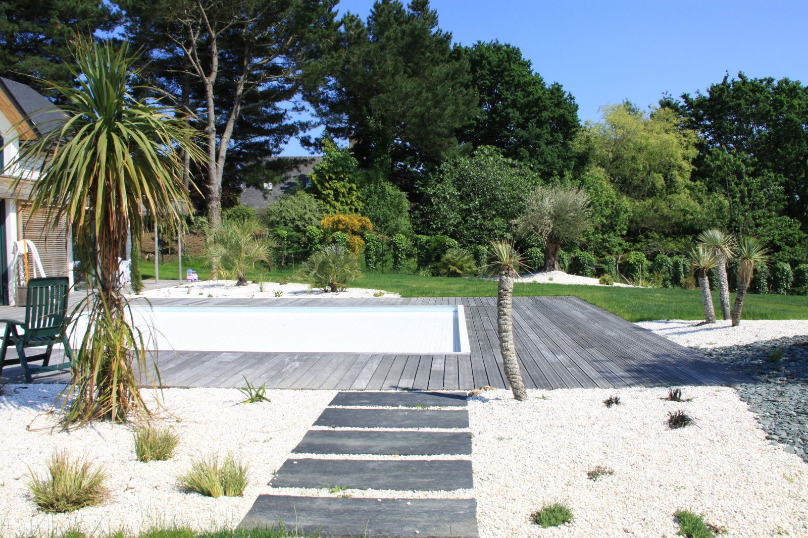 Garten moy arbor mineral paysagiste a vannes amenage for Paysagiste piscine