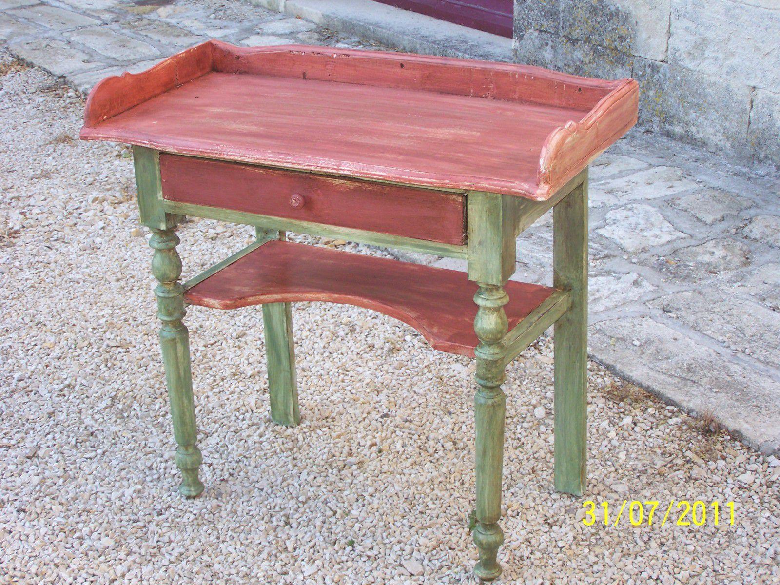 Album meubles peints l 39 ecorce du temps for Technique peinture meuble