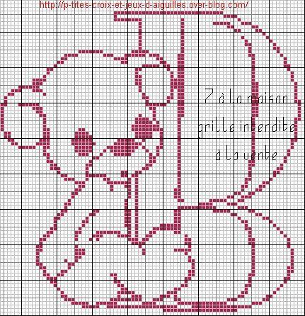 Grille gratuite le blog de 7 la maison point de croix - Alphabet au point de croix grille gratuite ...