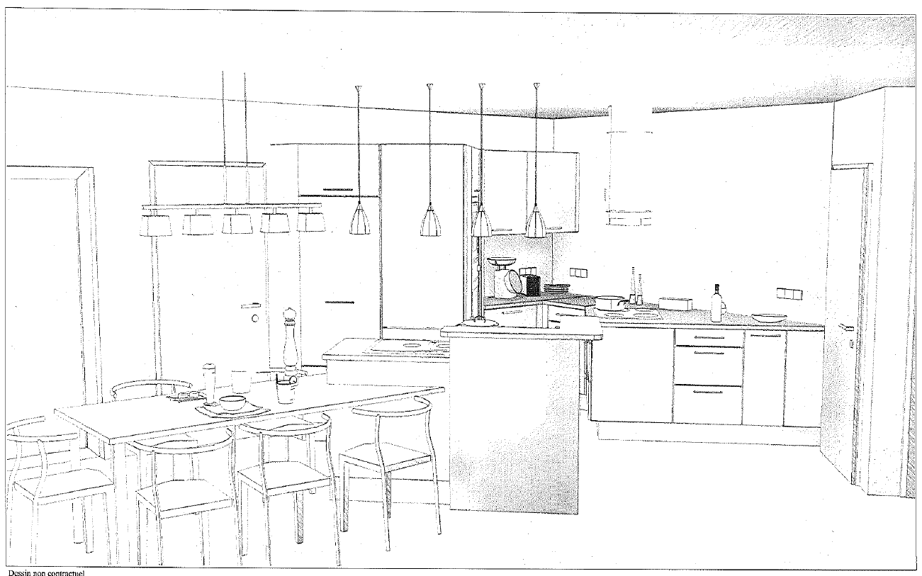 Plans et dessins de la cuisine notre construction landenne for Plans et dessins de construction
