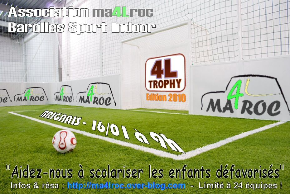 tournoi de foot indoor humanitaire ma4lroc. Black Bedroom Furniture Sets. Home Design Ideas