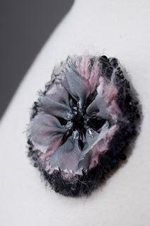 Broche: Fleur d'hiver