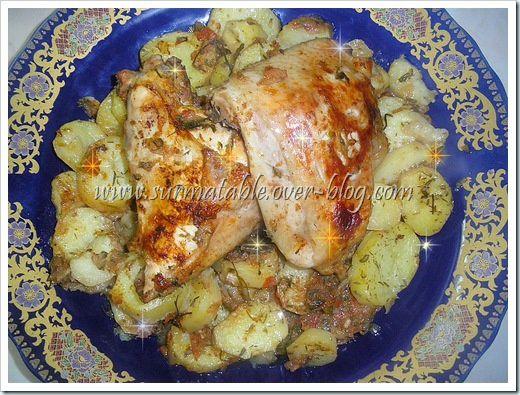 poulet et pommes de terre4