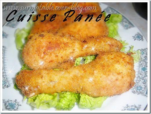 cuisse poulet panée