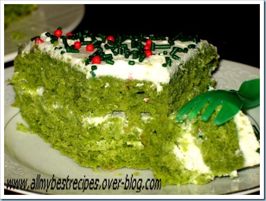 The green Cake le fameux gateau vert. All my best recipes