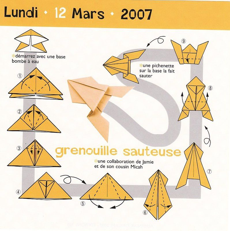 Origami diagrammes seconde partie premi re section le blog de zen05 - Origami grenouille sauteuse pdf ...