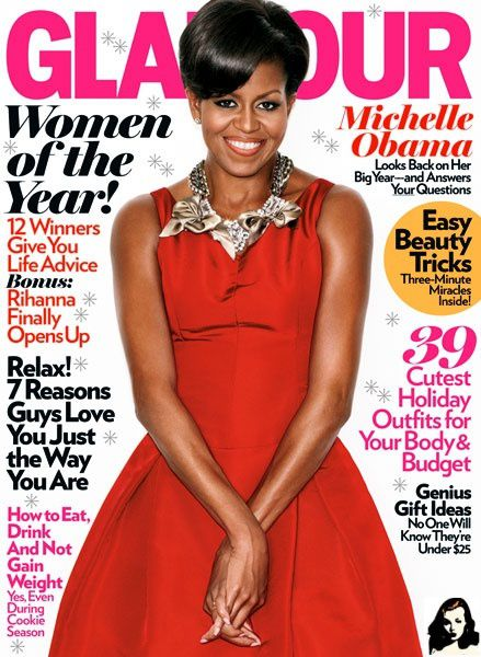 michelle obama fait la une du magazine glamour us ma beaut noire au top. Black Bedroom Furniture Sets. Home Design Ideas
