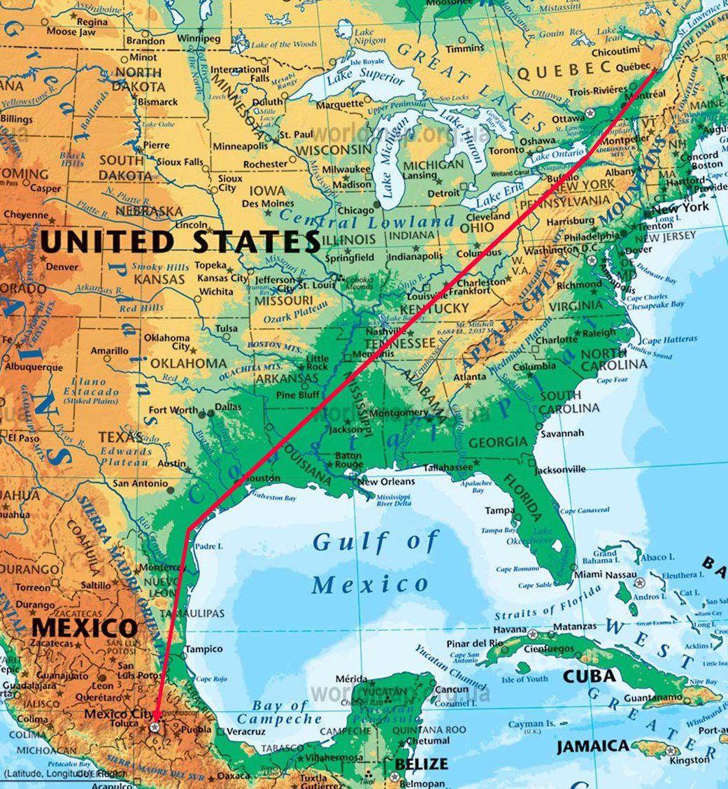 carte itinéraire zoom
