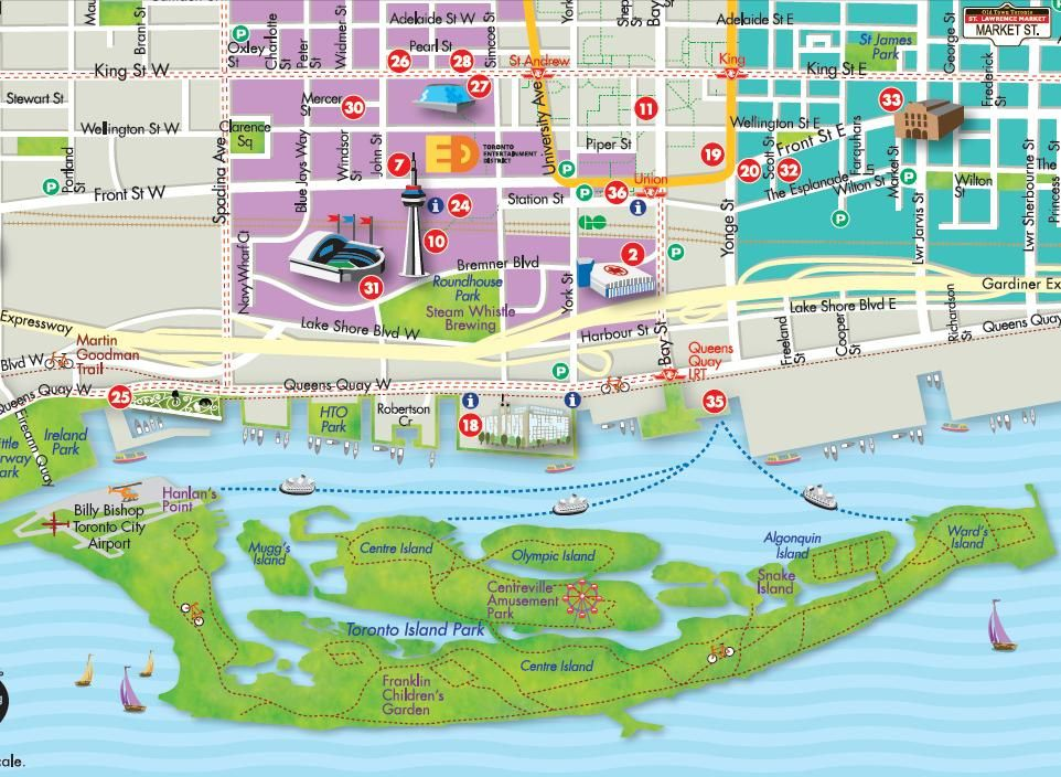 Toronto islands carte