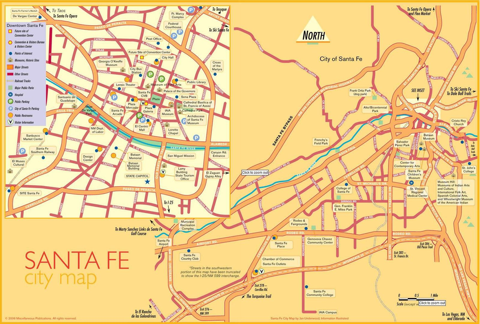 Santa Fé city map