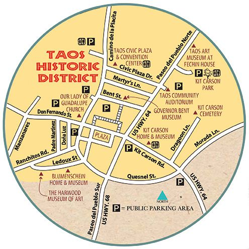 Taos Historic district map