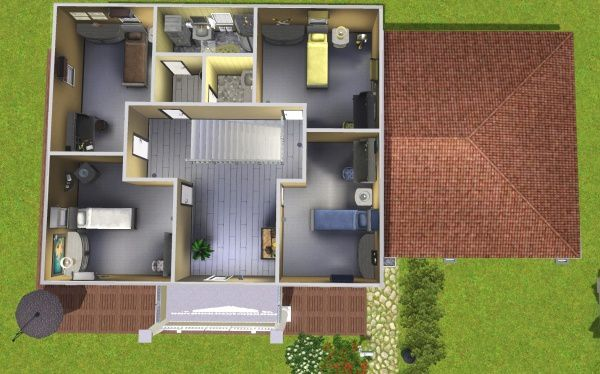 plans pour maisons sims 3 joy studio design gallery best design. Black Bedroom Furniture Sets. Home Design Ideas
