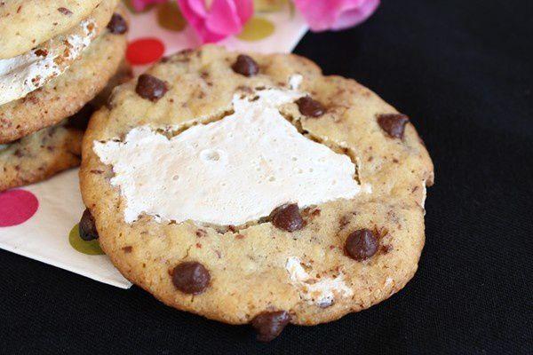 Cookies aux pépites de chocolat et Fluff 8