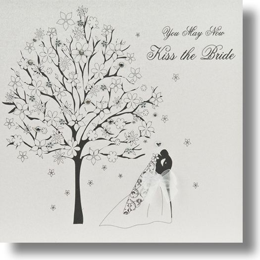 Kiss The Bride Five Dollar Shake Wedding Card