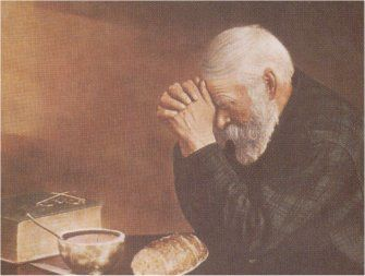 grace old man praying l