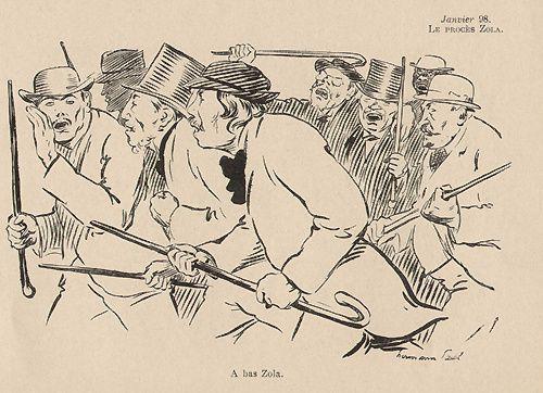 Le procès de Zola - canne - 1898