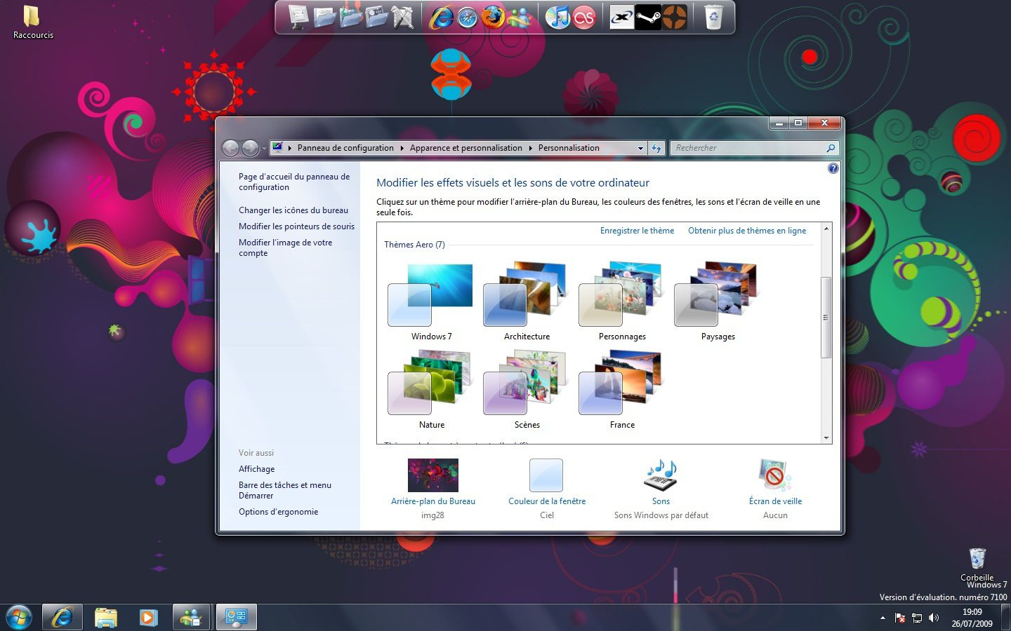 screen shot windows seven