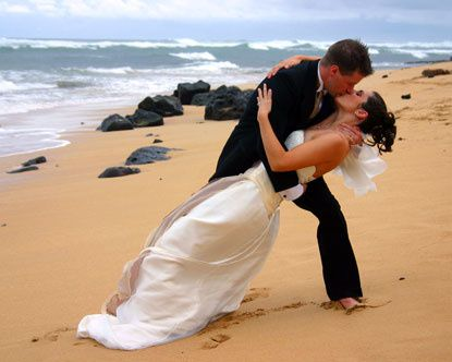 mariage, amour, passion, femme, couple, homme, costume, plage, baiser, romantique, romantisme