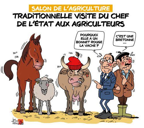 Fran ois hollande en visite au salon de l 39 agriculture jm for Hollande salon agriculture