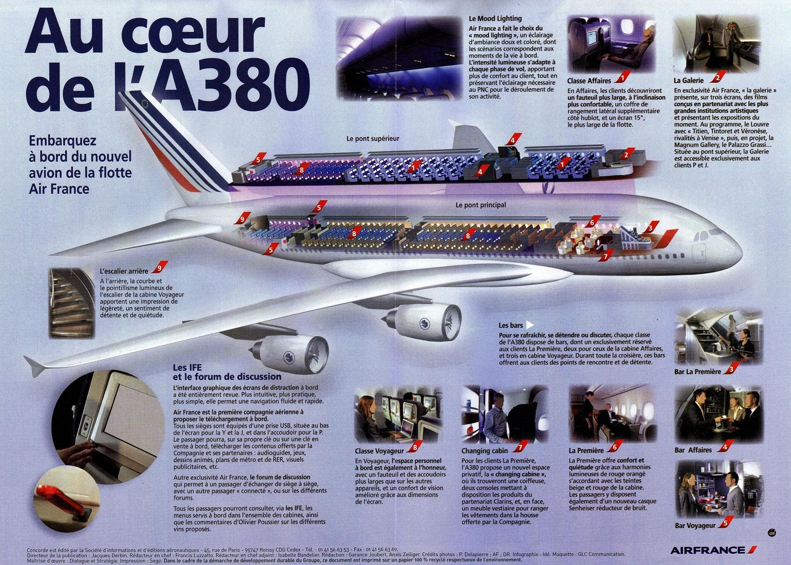 A380 air france culture et nature for Interieur avion air france