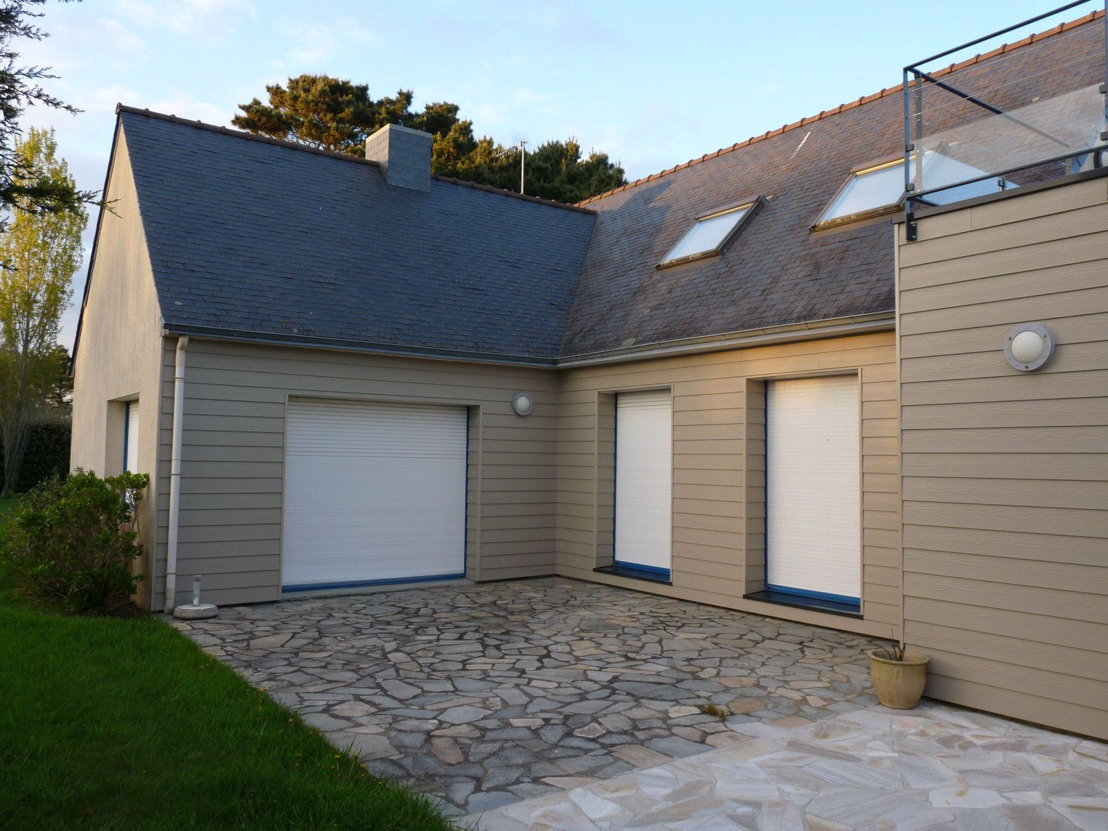 Extension bardage cedral atelier jbr associ s for Extension bardage