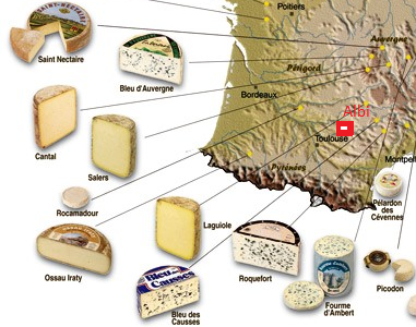 carte fromage sud-ouest