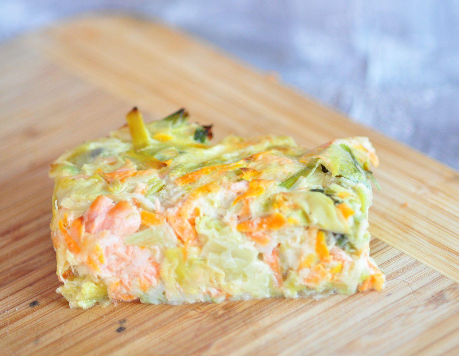 Flan aux poireaux carottes et saumon blog cuisine avec du chocolat ou thermomix mais pas que - Cuisine legere thermomix ...