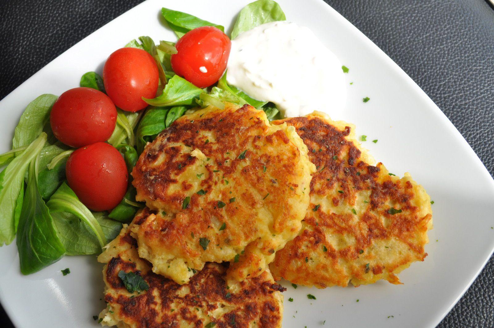Galettes de pommes de terre au poulet blog cuisine avec du chocolat ou thermomix mais pas que - Cuisiner reste de poulet ...