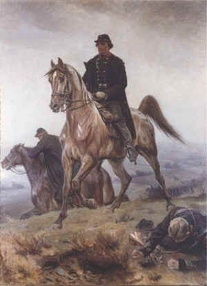 Colonel Laessoe in The Battle of Isted 1850 painted by V.H.