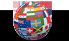 Flag globe 100x60