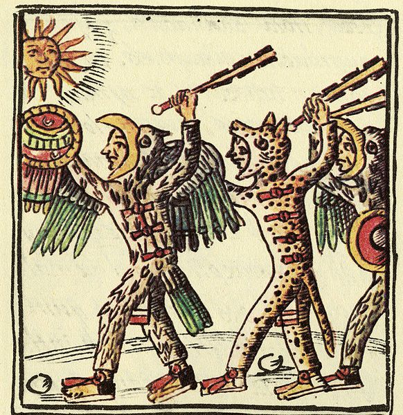 582px-Aztec Warriors (Florentine Codex)