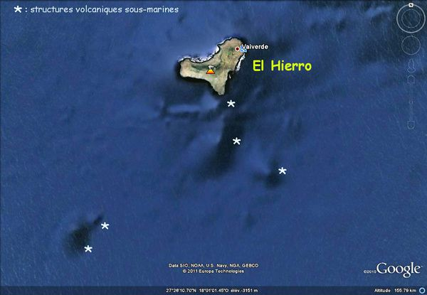 Hieero et volcans ss-marins - Google earth
