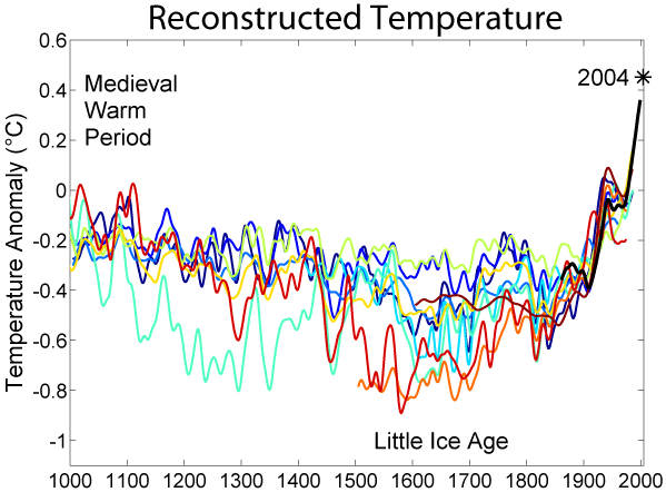 1000 Year Temperature Comparison