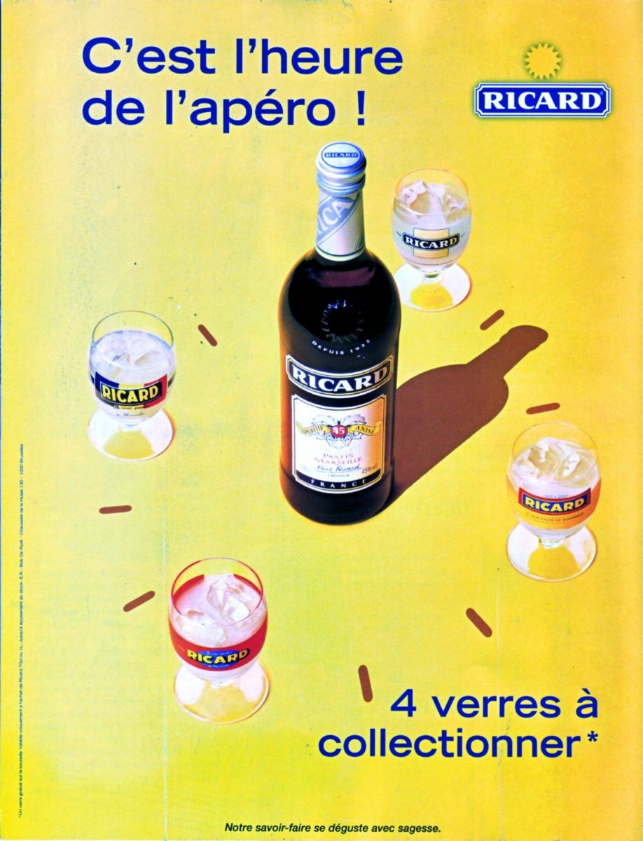 ricard affiche pub 39 c 39 est l 39 heure de l 39 ap ro ricard le blog de nesstri. Black Bedroom Furniture Sets. Home Design Ideas