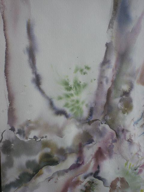 Peinture au bord des étangs de la reine blanche j-copie-1