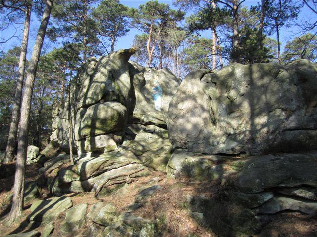 Foret de Fontainebleau : rocher du Cid et Vierge