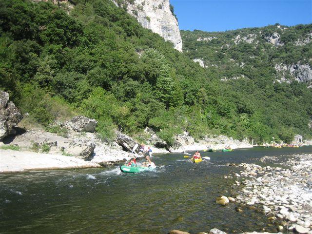 Gorges de l'Ardèche : le rapide de l'Olivier