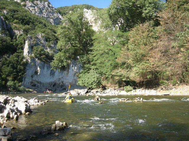 Gorges de l'Ardèche : le rapide des branches
