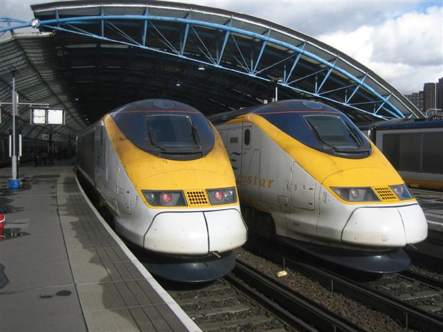 Eurostar en gare de Waterloo Station