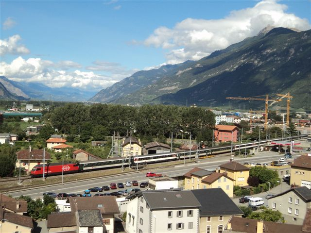 train inter regio gare Martigny
