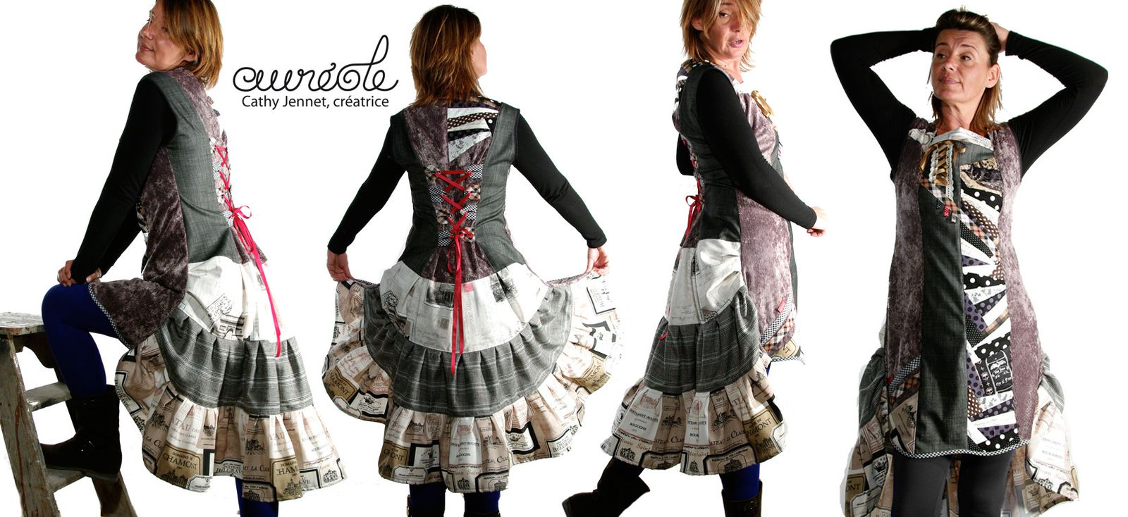 """Robes d'inspiration Victorienne dans un esprit """"faux cul"""" contemporain."""