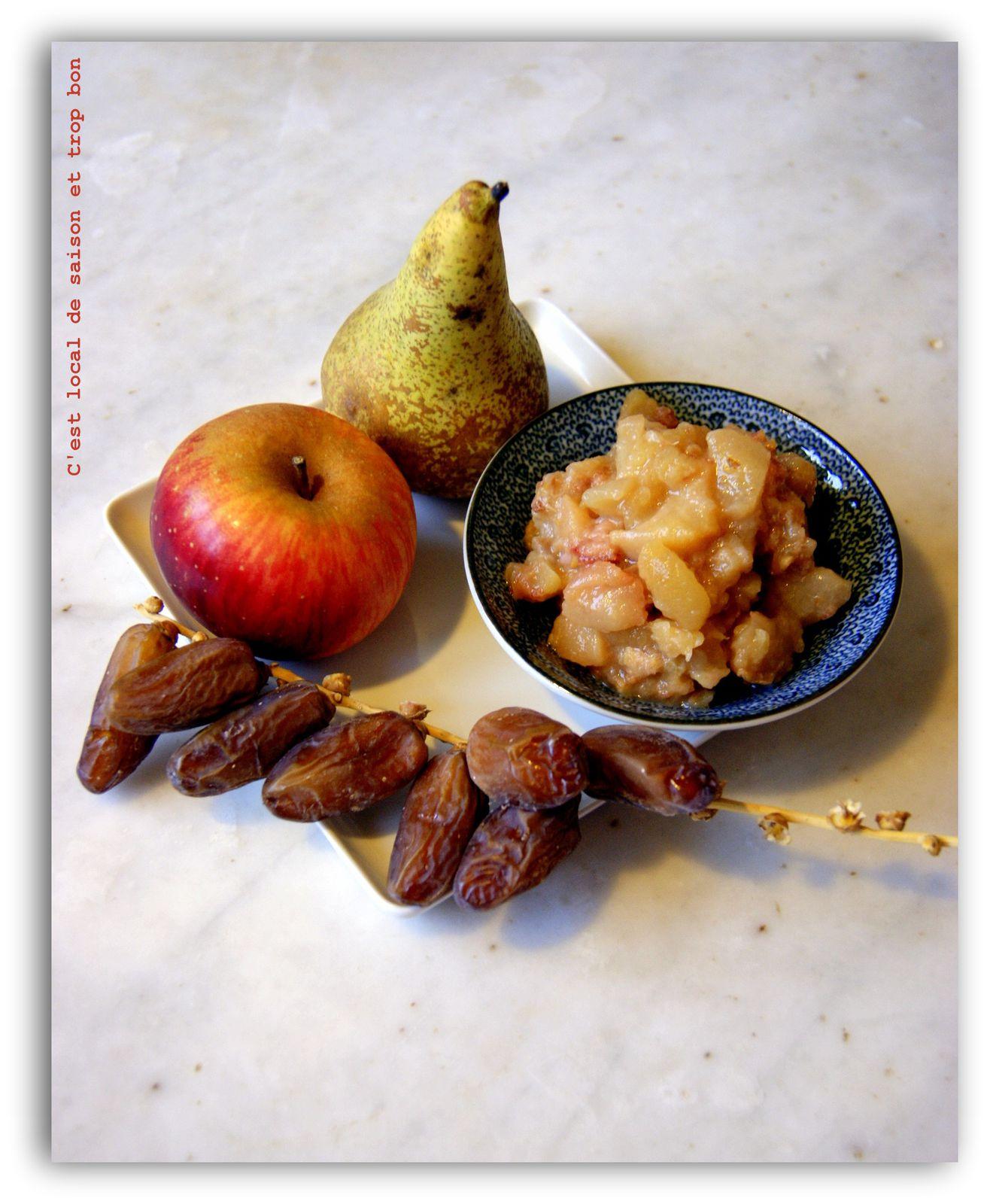 Compote express pomme poire dattes c 39 est local de - Maison de la pomme et de la poire ...