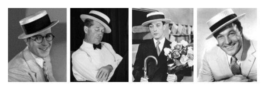 Chapeau canotier - Harold Lloyd - Maurice Chevalier - Buste