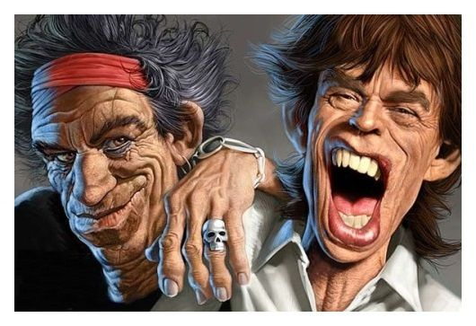 Keith Richards & Mick Jagger (Michel Achard)