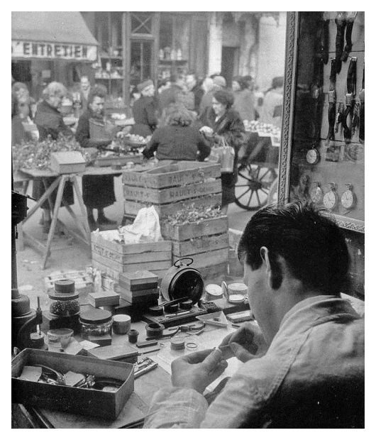 Willy Ronis - L'horloger - Paris